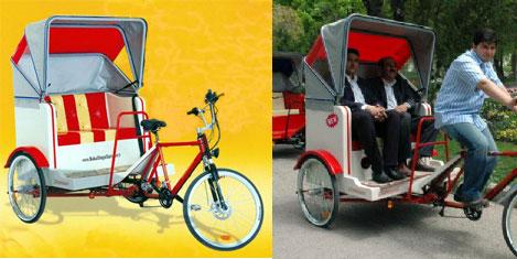 Çevre dostu bisiklet taksi