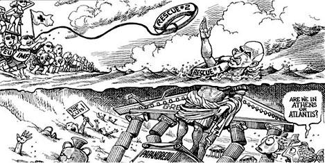 Yunanistan'ın borcu Avrupa'yı korkutuyor