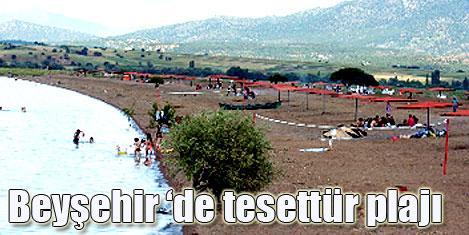 Beyşehir Gölü'ne tesettür plajı