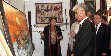 Türkmen el sanatları İstanbul'da