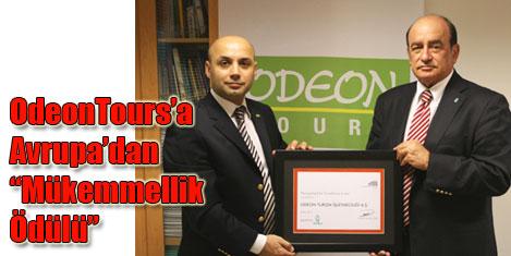 Odeon Tours'a mükemmellik ödülü