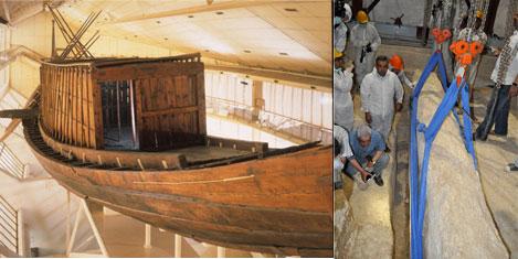 Mısır Kralı Khufu'nun teknesi