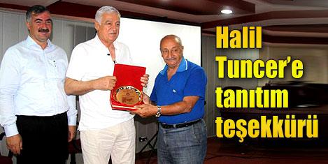 Halil Tuncer'e Kahta'dan teşekkür