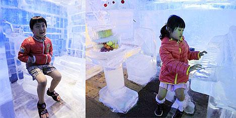 Güney Kore'de Buz Galerisine akın