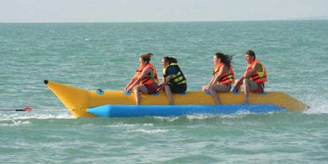 Beyşehir Gölü'nde banana keyfi