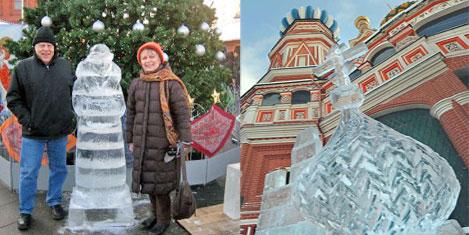 Moskova'da buz heykeller yarıştı