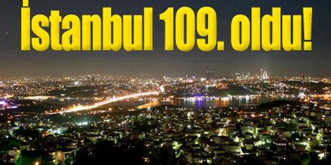İstanbul 140 şehir içinde 109.oldu