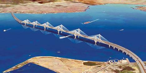 İzmit Körfez köprüsü temeli atıldı