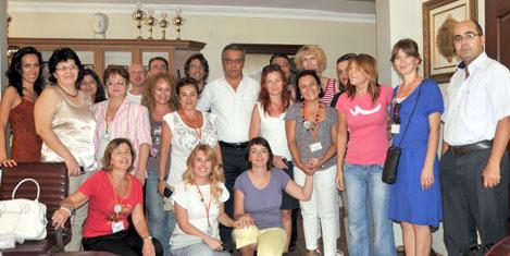 Avrupalı öğrenci ve öğretmenler