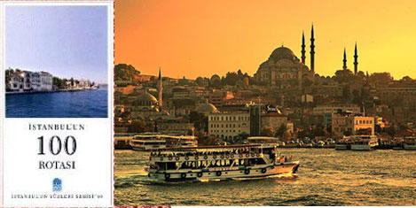 ''İstanbul'un 100 Rotası'' kitapta