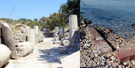 Antik kente liman ve termik santral