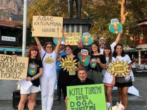 Antalya'da 'İklim İçin Ses Ver' etkinliği yapıldı