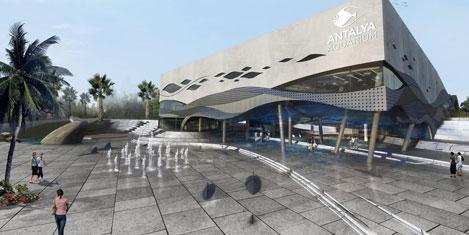 Antalya Aquarium'un temeli atılıyor