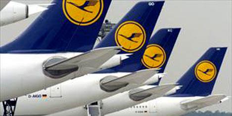 Grev Lufthansa'yı vurdu