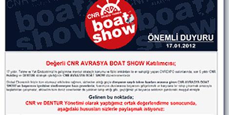 Boat Show Aralık ayına ertelendi