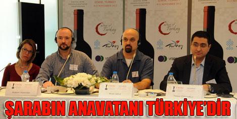 Şarabın anavatanı Türkiye'dir
