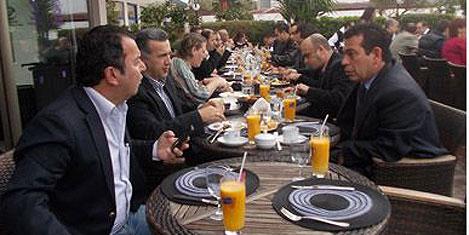 Türsab ile kahvaltıda buluştular