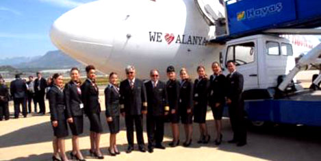 Gazipaşa'ya ilk kez büyük uçak indi
