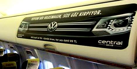 Central reklamı uçaklara girdi