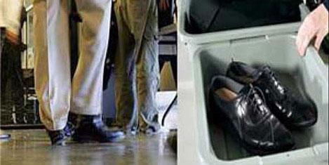 Havalimanında ayakkabı çıkmıyor