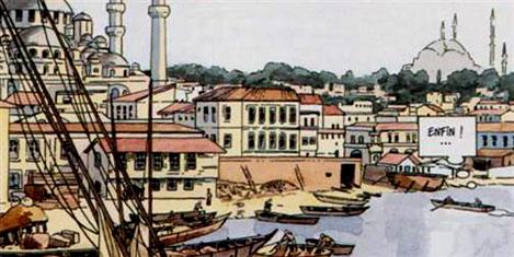 İstanbul`u çizmeye geldiler