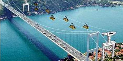 İstanbul Boğazı'na teleferik