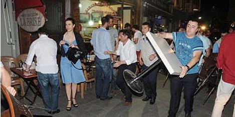 Beyoğlu'nda masa operasyonu