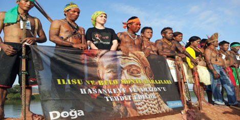 Brezilya'da Hasankeyf eylemi