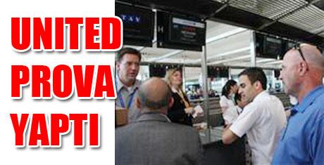 Havalimanında prova yapıldı