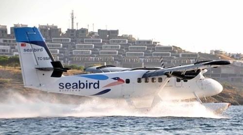 Bodrum'da deniz uçak heyecanı