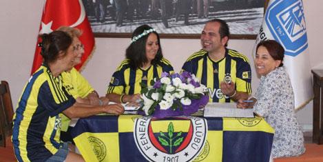 Fenerbahçe formalı nikâh