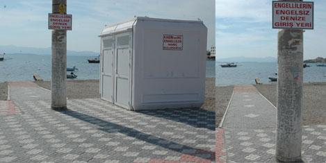 Engelsiz denize giriş platformu