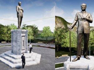 Balıkesir'e dev Atatürk heykeli yapılıyor
