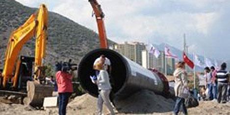 KKTC için Akdeniz'e su borusu