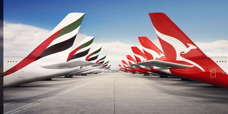 Emirates ile Qantas ortaklığı onayda