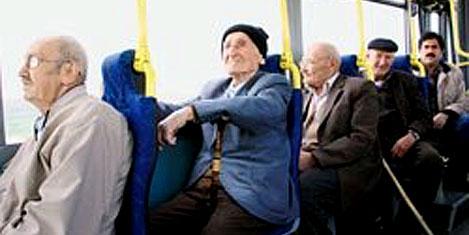 Ulaşım yaşlı ve engelliye bedava