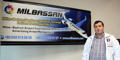 Bodrum Havalimanı'nda reklâmlar