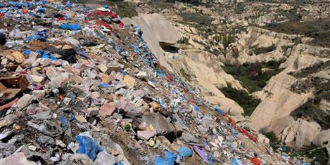 Kapadokya çöplüğe dönüştürüldü