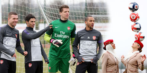 Arsenal'li futbolcular, Emirates'de