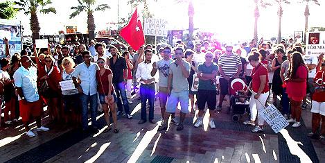 Turgutreis'te Taksim'e destek