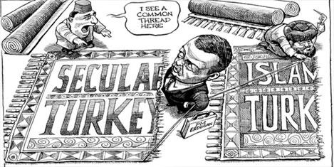 Batı,Taksim Gezi Parkı'nı izliyor