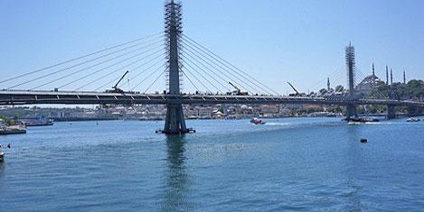 Haliç metro köprüsü sonda