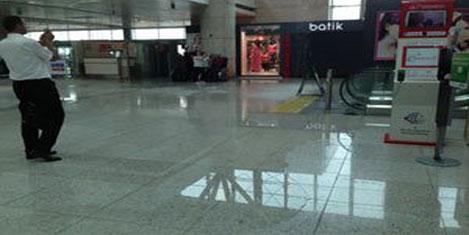 Ankara havalimanıni su bastı