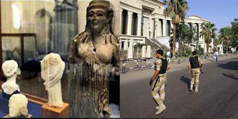 Mısır'ın kültürel mirası yağmalandı
