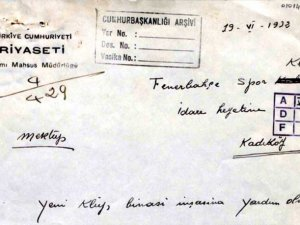 Atatürk, Fenerbahçe'ye500 lira bağışlamış!