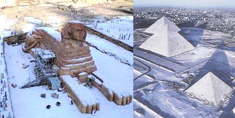 Piramitlerde122 yıl sonra kar