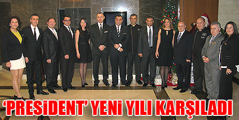 President'te Yeni Yıl partisi