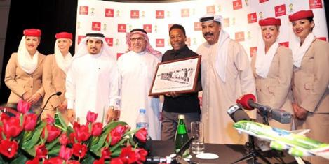 Pele Emirates'in temsilcisi oldu