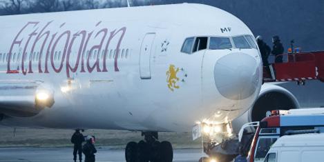 Ethiopian Air Cenevre'ye kaçırıldı