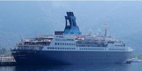 Dev gemi 366 turist getirdi